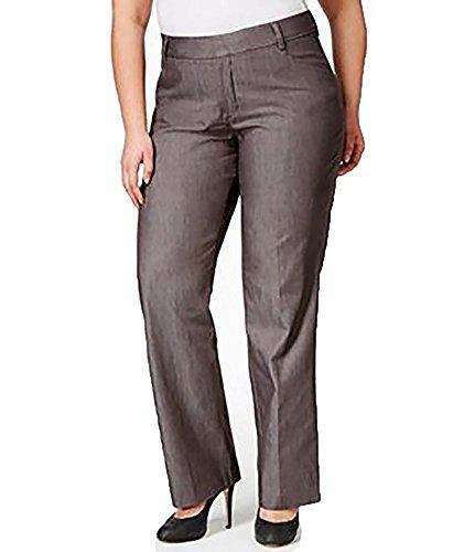 Lee Platinum Plus Size Monaco Trouser Gray Wash Jeans (16W,