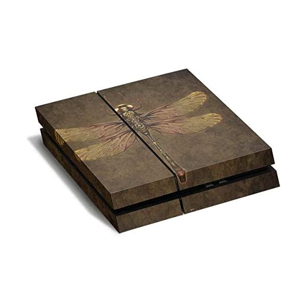 Fantasy & Dragons PS4 Horizontal (Console Only) Skin - Steampunk & Gear Dragonfly Vinyl Decal Skin for Your PS4 Horizontal (Console Only) 3
