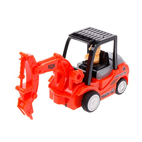 (JAGETRADE Funny Engineering Car with Engineer Dump Truck Model Tractor Toy Pull Back Vehicles Boys Toys Gift )