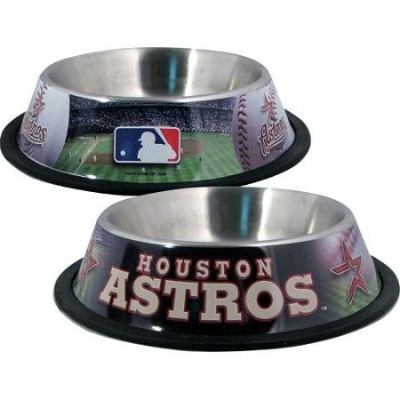 (Houston Astros Stainless Dog Bowl)