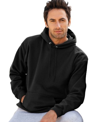 Hooded Pullover Ultimate Cotton (Hanes Mens Ultimate Cotton Pullover Hooded Sweatshirt, 2XL, Blk)