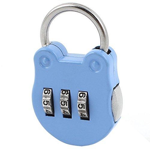 La cabeza del gato Forma 3 dígitos de seguridad Contraseña La combinación del candado azul - - Amazon.com