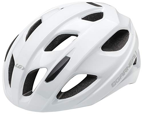 Louis Garneau Asset Bike Helmet, Lightweight, Ventilated, CPSC Safety Certified Cycling Helmet for Adults, White, ()