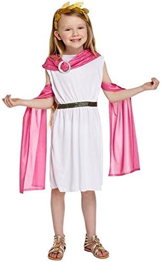 para niñas, color blanco / Rosa Diosa Griega Princesa Disfraz ...
