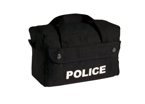 Rothco Tactical Gear Bag - Small Canvas Police Logo, Black By Rothco R