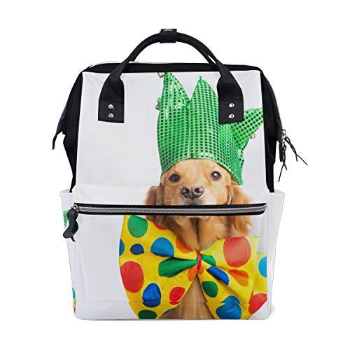Cute Happy Dog Wear Tie Large Capacity Diaper