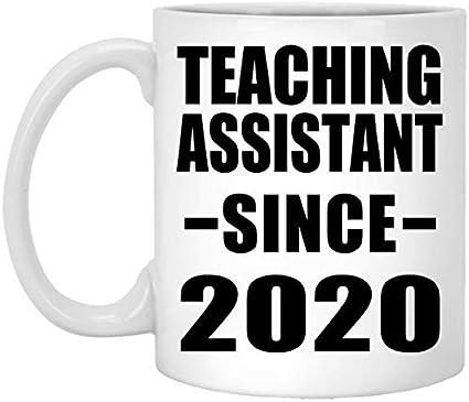 Sar54ryld Teaching Assistant desde 2020-11oz taza de café de cerámica blanca taza de té – regalo para amigo, universidad, graduación, día del padre, cumpleaños, aniversario