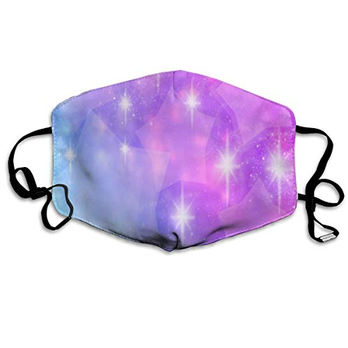 Dust Mask Purple Sparkle Star Face Mask Fashion Anti-dust Reusable Cotton Comfy Breathable Safety Mouth Cover Masks for Women Man Running Cycling Outdoor