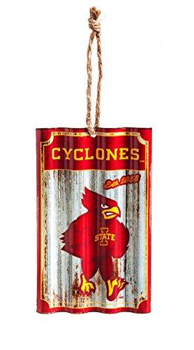 Team Sports America Iowa State University Corrugated Metal Ornament (Of Ornaments Christmas University Iowa)