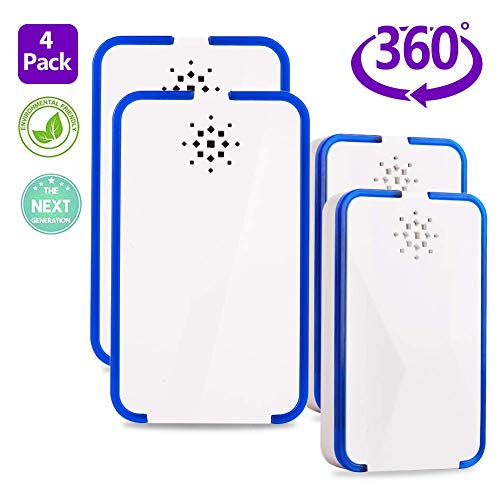 ATETION Ultrasonic Pest Repeller 4 Pack Upgraded,Electronic Plug...