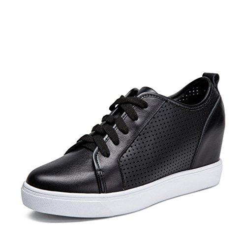 de deporte puntiagudo altura Zapatos Mocasín de aumento del de de plano B mujeres perforado las ocasionales fondo Zapatos Zapatos zapato RXUw66