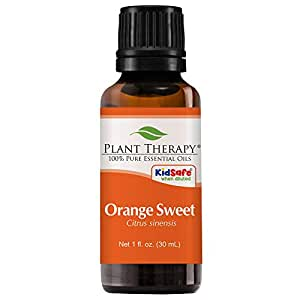 Plant Therapy Orange Sweet Essential Oil | 100% Pure, Undiluted, Natural Aromatherapy, Therapeutic Grade | 30 milliliter (1 ounce)