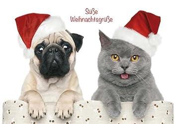 Süße Weihnachtsgrüße.Postkarte A6 Weihnachten Von Modern Times Süsse