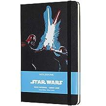 Caderno de Anotações Grande, Moleskine, Star Wars, Preto