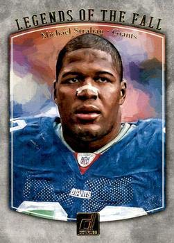 2018 Donruss Legends of the Fall #6 Michael Strahan NY Giants Football Card NM-MT (Michael Strahan Football)