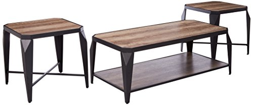 light oak coffee table set - 1