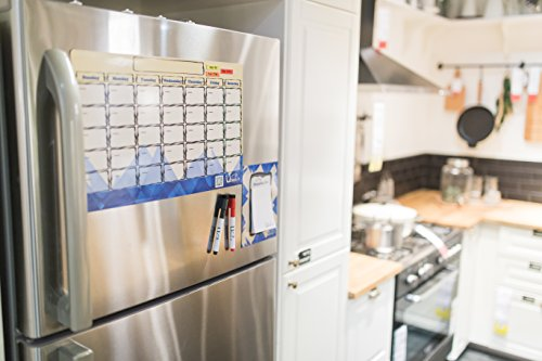 Magnetic Weekly Calendar For Refrigerator : Dry erase board monthly magnetic calendar for refrigerator