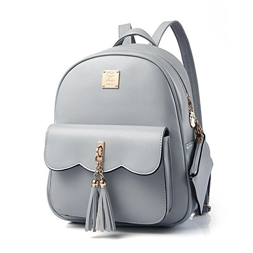 Grey Quilted Backpack Casual for Fashion Backpack Design Girls Fashion Simple Women npxOqUSPU