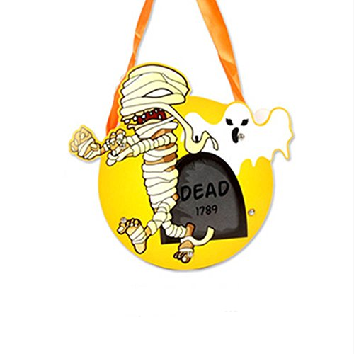 WDDH Halloween Trick or Treat bag Cute DIY Pumpkin Party Home Decor Kids or Costume Party (mummy)