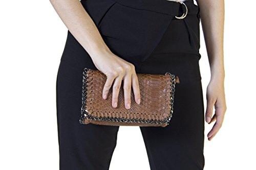 Morgan Visioli Fashion Mujer cuello alto marrón