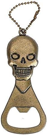 Ala sacacorchos Abridores de botellas - Botella portátil Accesorios de cocina de cobre retro de la cabeza del cráneo Gadgets Esqueleto abridor for Bar llavero cerveza abridor práctica evitar el desliz