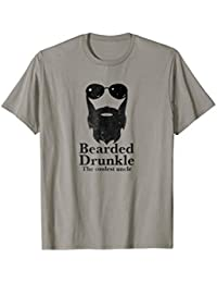 Funny Bearded Drunkle Drunk Uncle Drinking Gift T-Shirt 0942946ed