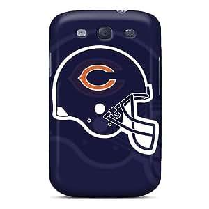 Elaney Premium Protective Hard Case For Galaxy S3- Nice Design - Chicago Bears Flat Helmet