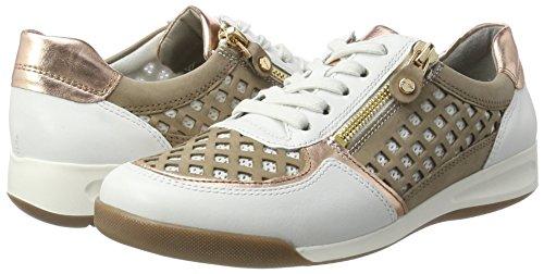 Ara Basses Weiß rosegold 34456 Rom Femmes Pour taupe nbsp;chaussures weiss 12 rIqUr
