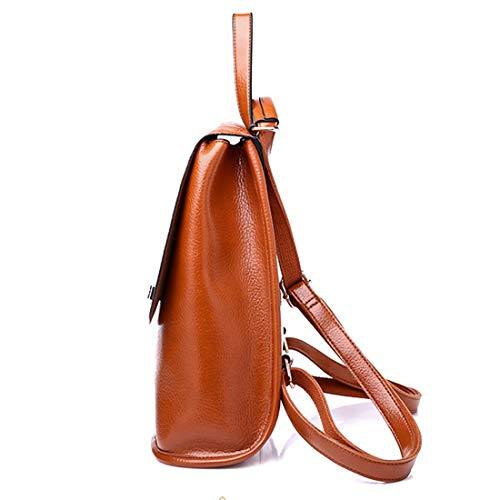 Casual Bolso Cubo Bag Travel Señoras Impermeable Cuero Convertible Mochila Tipo Brown Pu Ladies Haxibkena Ia7TBq