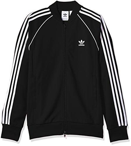 Jacket Zip Stripe (adidas Originals Men's Superstar Track Jacket, Black, L)