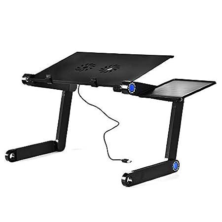 Mesa Plegable Mesas ergonómicas para computadora con ventilador de ...