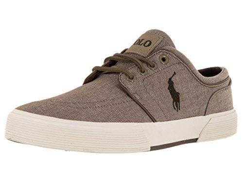 Tan Ralph Lauren Mens Faxon Sneaker Bassa Tan
