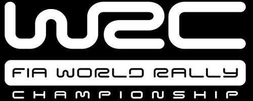 ANGDEST WRC logo (WHITE) (set of 2) Premium Waterproof Vinyl Decal Stickers Laptop Phone Accessory Helmet Car Window Bumper Mug Tuber Cup Door Wall Decoration