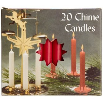 Biedermann & Sons Chime or Tree Candles 20-count Box, Red