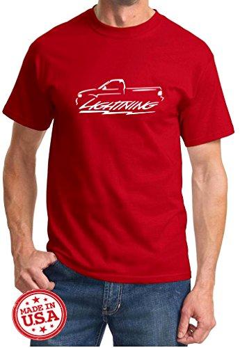 1999-04 Ford SVT Lightning F150 Truck Classic Outline Design Tshirt medium red