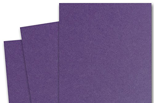 (Blank Basic 5x7 inch A7 Card Stock (50 Pack, Dark Purple))