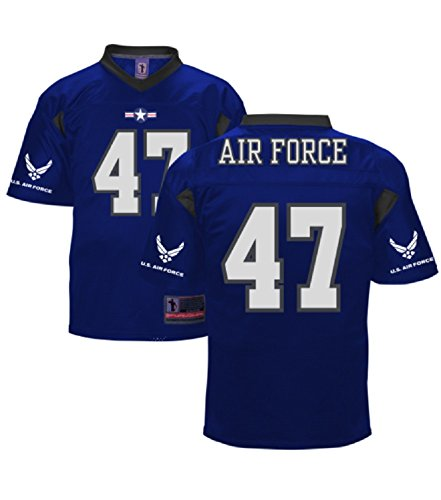 - Battlefield Collection Air Force Authentic Royal Football Jersey 3X-Large Blue