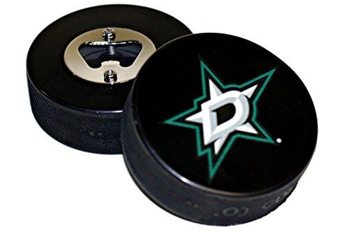 (EBINGERS PLACE Dallas Stars Basic Logo Hockey NHL Puck Bottle Opener)