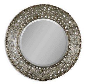 (Uttermost Alita Champagne Woven Metal Mirror)