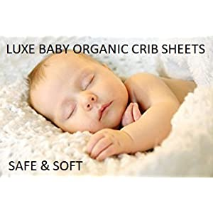 Luxe Baby Organic Fitted Crib Sheet Set, 2-Pack Ultra Soft Jersey Cotton Bedding for Boys & Girls. Fits All Crib Mattresses and Toddler Beds. Unisex, Gender-Neutral Chevron Design. (Chevron/Grey)