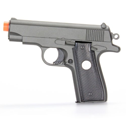 BBTac BT-G2 Full Metal Slide Body Sub Compact 240 FPS Spring Airsoft Gun and Tactical Skeleton Hammer