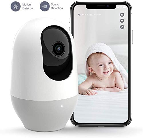 Baby Monitor,WiFi Camera,Nooie 1080P FHD indoor Wireless IP Camera Home Security Pet Monitor Motion Tracking Super IR Night Vision Two-Way Audio Motion and Sound Detection