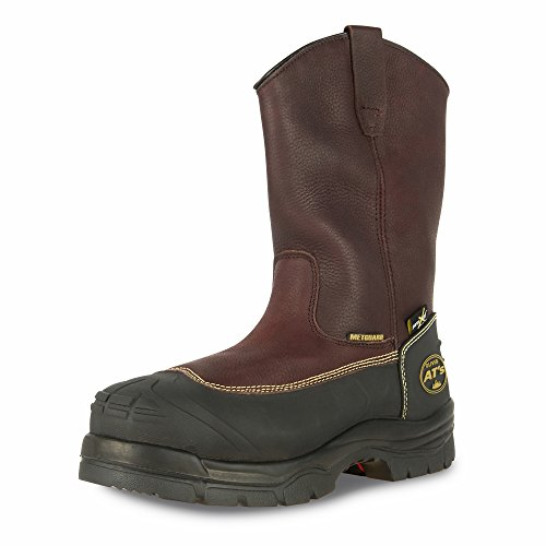 Oliver 65 Series Leather Chemical-Resistant Puncture-Resistant Steel Toe Pull-On Men's Metatarsal Boots, Brown (65396) (Red Wing Steel Toe Boots)