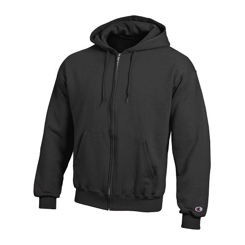(Champion Adult 50/50 Full-Zip Hooded Sweatshirt, Black, XX-Large)