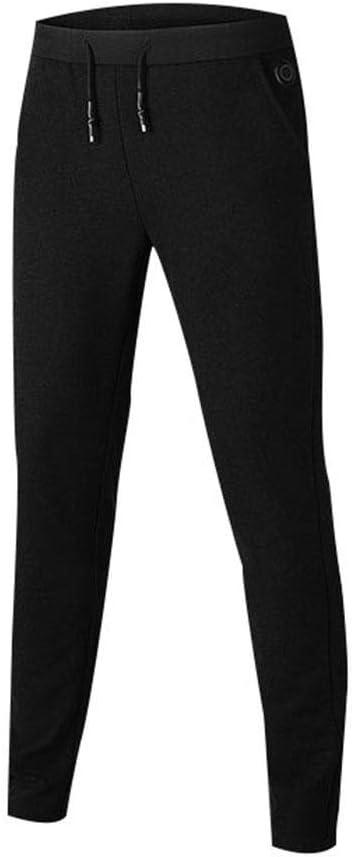 duhe189014 Pantalones Calientes con Calefacci/ón El/éctrica Hombres Mujeres Capa Base De Calefacci/ón USB Pantalones El/ásticos para Acampar Senderismo Invierno Al Aire Libre