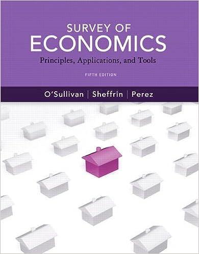 Survey of economics: principles, applications and tools (5th.