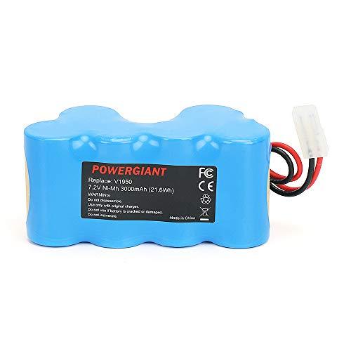 PowerGiant 7.2V 3.0Ah NiMh XB1918 Battery Replacement for Euro-Pro Shark V1917 V1950 VX3 Cordless Vacuum ()
