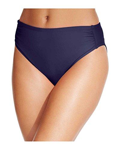 INC International Concepts Women's Side Shirred Swim Briefs (12, - International Swims Inc