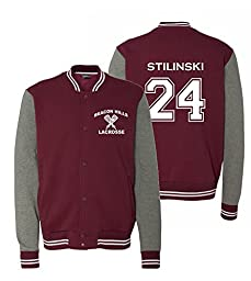 Adult Teen Wolf Beacon Hills Stilinski Sweatshirt Jacket (XX-Large, Maroon)