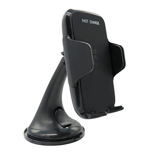 9 Nine Qiポータブル高速車充電ワイヤレス充電スタンドfor iPhone X / 8 Plus / 8 / Samsung Galaxy s8 / s7 / s6 and any qi-enableスマートフォン B076WTGR9L